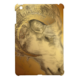 Golden Ram or Aries - Chinese + Western Astrolgy iPad Mini Cover