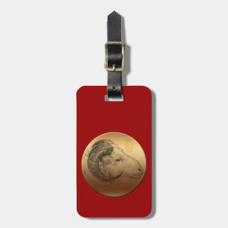 Golden Ram Year - Chinese Astrology Bag Tag