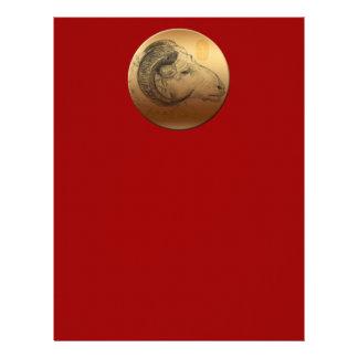 Golden Ram Year - Chinese Astrology Sign Letterhead