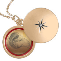 Golden Ram Year Chinese Astrology Zodiac Necklace