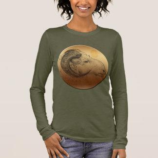 Golden Ram Year Chinese Astrology Zodiac Women T Long Sleeve T-Shirt