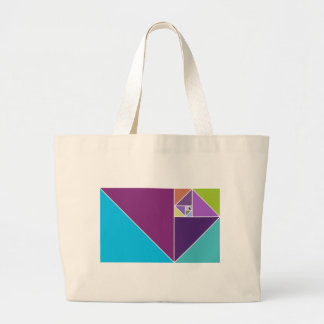 Golden Ratio (Bright colors) Large Tote Bag