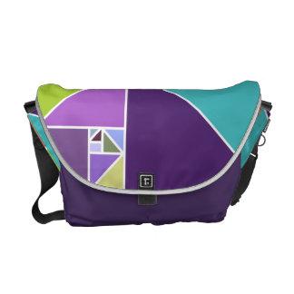Golden Ratio (Bright Colors) Messenger Bags