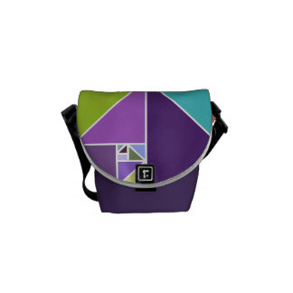Golden Ratio (Bright Colors) Courier Bags