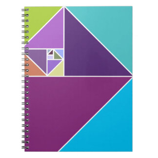Golden Ratio (Bright colors) Spiral Note Book