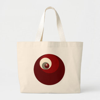 Golden Ratio Circles (Red) Large Tote Bag