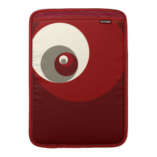 Golden Ratio Circles (Red) MacBook Sleeve