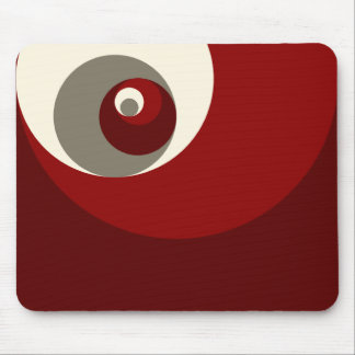 Golden Ratio Circles (Red) Mouse Pad