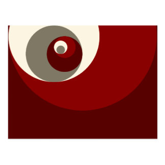 Golden Ratio Circles (Red) Postcard