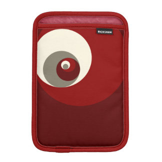 Golden Ratio Circles (Red) Sleeve For iPad Mini