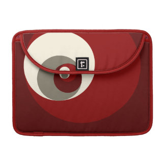 Golden Ratio Circles (Red) Sleeve For MacBook Pro