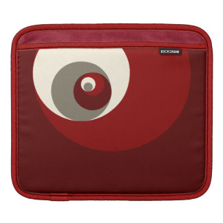 Golden Ratio Circles (Red) Sleeves For iPads