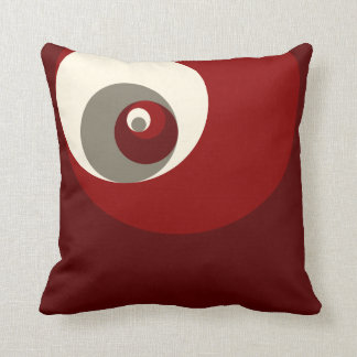 Golden Ratio Circles (Red) Throw Pillow