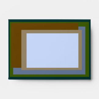 Golden Ratio Copper Blocks Envelope