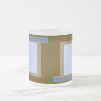 Golden Ratio Copper Blocks Frosted Glass Coffee Mug