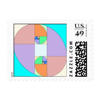 golden ratio egg postage stamp