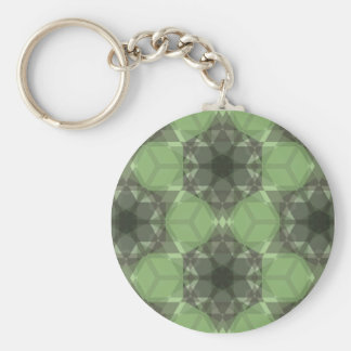 Golden Ratio Emerald Forest Lg Any Color Keychain
