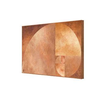 Golden Ratio, Fibonacci Spiral Stretched Canvas Print