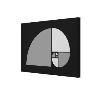 Golden Ratio Fibonacci Spiral Gallery Wrapped Canvas