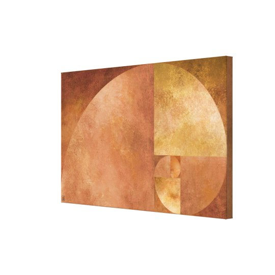 Golden Ratio, Fibonacci Spiral Canvas Print