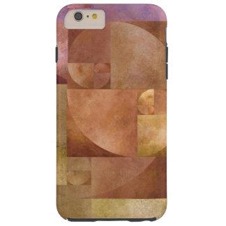 Golden Ratio, Fibonacci Spiral Tough iPhone 6 Plus Case