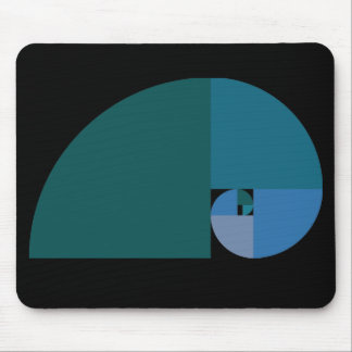 Golden Ratio, Fibonacci Spiral Mouse Pad