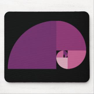 Golden Ratio Fibonacci Spiral Mouse Pad