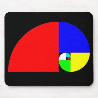 Golden Ratio Fibonacci Spiral Mousepads