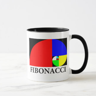 Golden Ratio, Fibonacci Spiral Mug