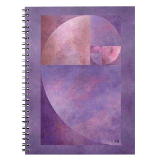 Golden Ratio, Fibonacci Spiral Notebook