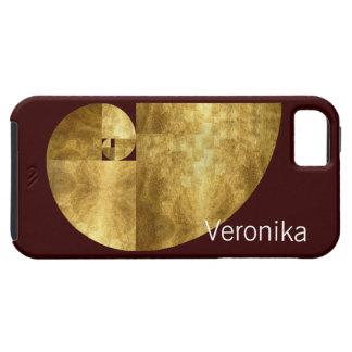 Golden Ratio, Fibonacci Spiral, Personalizable iPhone 5 Covers