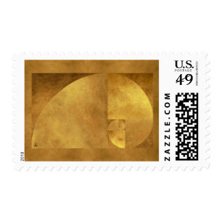 Golden Ratio, Fibonacci Spiral Postage Stamps