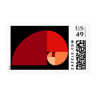 Golden Ratio, Fibonacci Spiral Stamps