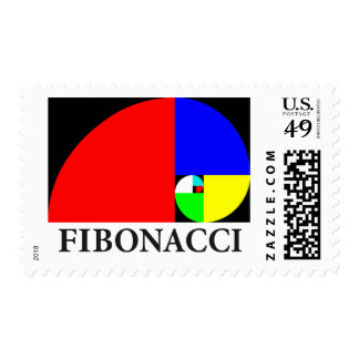 Golden Ratio, Fibonacci Spiral Postage Stamp