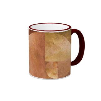 Golden Ratio, Fibonacci Spiral Ringer Coffee Mug