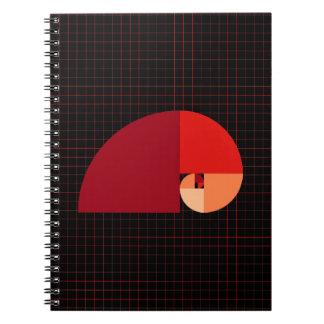 Golden Ratio, Fibonacci Spiral Spiral Notebook