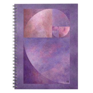 Golden Ratio, Fibonacci Spiral Spiral Notebooks