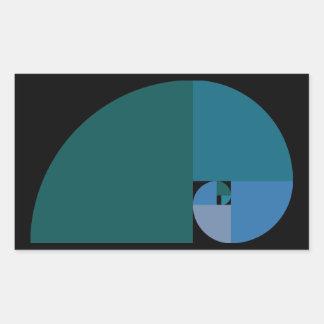 Golden Ratio Fibonacci Spiral Stickers