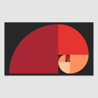 Golden Ratio Fibonacci Spiral Rectangle Stickers