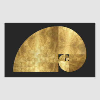 Golden Ratio Fibonacci Spiral Sticker
