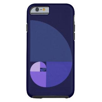 Golden Ratio, Fibonacci Spiral Tough iPhone 6 Case
