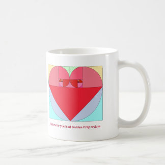 Golden Ratio Heart Coffee Mug