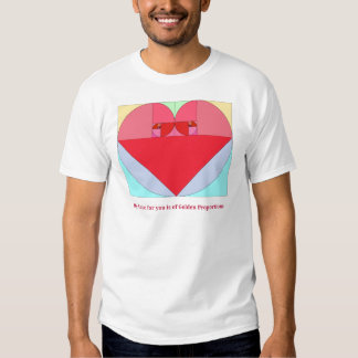 Golden Ratio Heart T Shirt