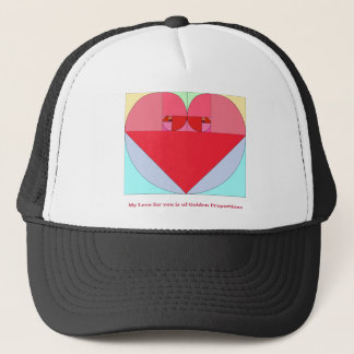 Golden Ratio Heart Trucker Hat