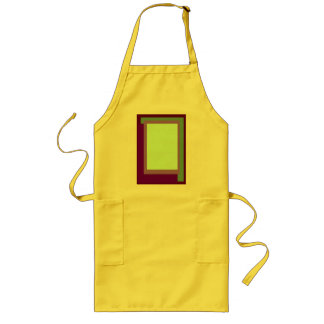 Golden Ratio Mauve Blocks Long Apron