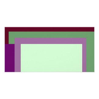 Golden Ratio Mauve Blocks Photo Greeting Card