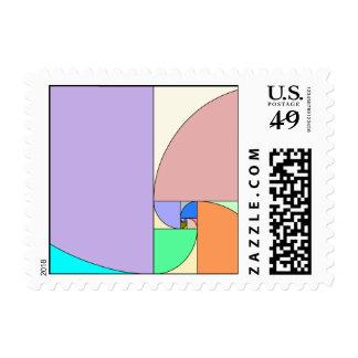 Golden ratio postage stamps