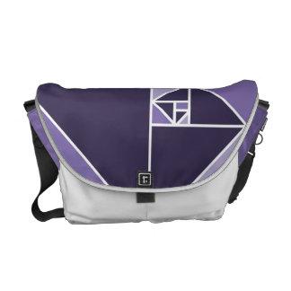 Golden Ratio (Purple) Courier Bag