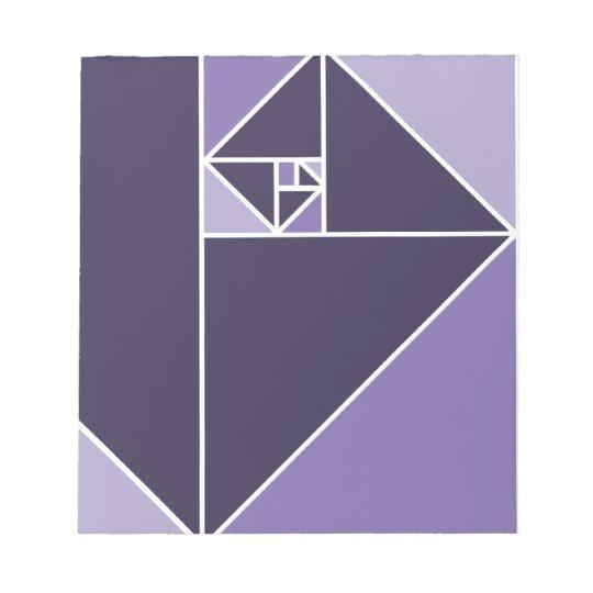 Golden Ratio (Purple) Notepad