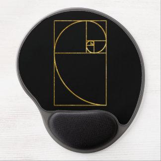 Golden Ratio Sacred Fibonacci Spiral Gel Mouse Pad